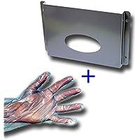 Wandhalter für Dieselhandschuhe, Spender für Tankhandschuhe aus Aluminium mit 5000 Handschuhen im SET, Dieselhandschuh-Halter mit 5000 Dieselhandschuhen, Dispenser, Wandhalter für Tankhandschuhe