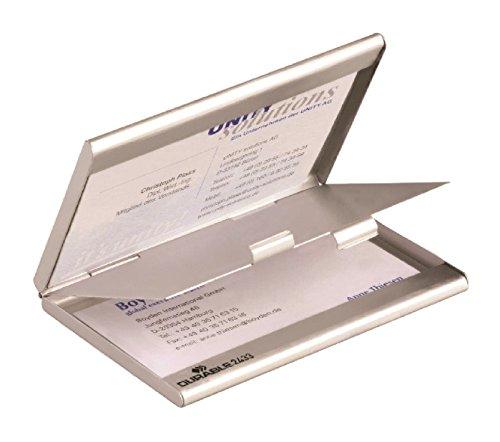 Durable 243323 Visitenkartenspender Business Card Box Duo (mit Trennfach) 1 Stück silber