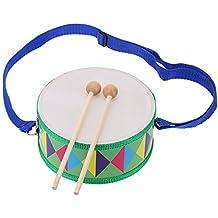 Andoer® - Tamburo colorato e bello, in legno, ideale per regalare uno strumento musicale giocattolo ad un bambino o ragazzo Tambor