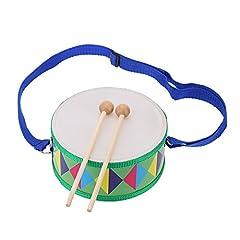 Idea Regalo - Andoer® - Tamburo colorato e bello, in legno, ideale per regalare uno strumento musicale giocattolo ad un bambino o ragazzo Tambor