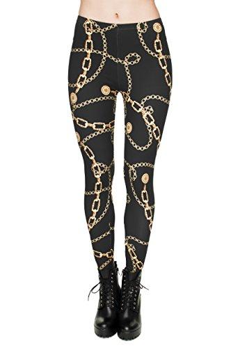 trvppy–Plus de 30Différents modèles–Gym Workout Sports Wear Yoga Pantalon Legging de sport Fitness Fashion Print Hipster GOLD CHAINS