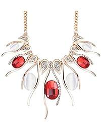 Moda Elegante Sencillo Chapado En Oro Rhinestone Olas En Forma Borlas Colgante Collar