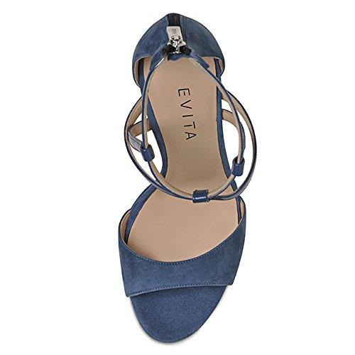Valeria Damen Evita Shoes Blau Sandalette Kombi qE75n6H7x