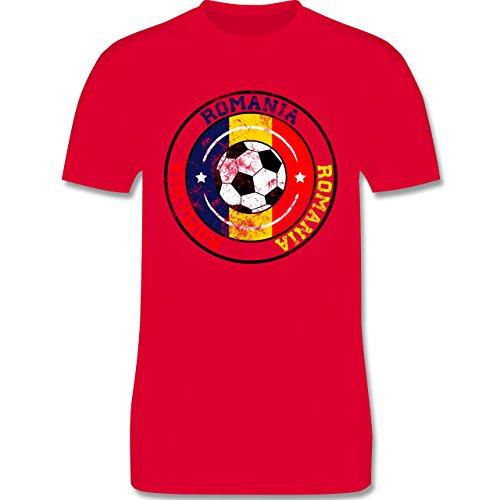 EM 2016 - Frankreich - Romania Kreis & Fußball Vintage - Herren Premium T-Shirt Rot