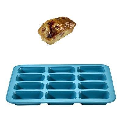 Verstärkte Silikon Muffinblech für 12Mini-Kastenform Kuchenform -