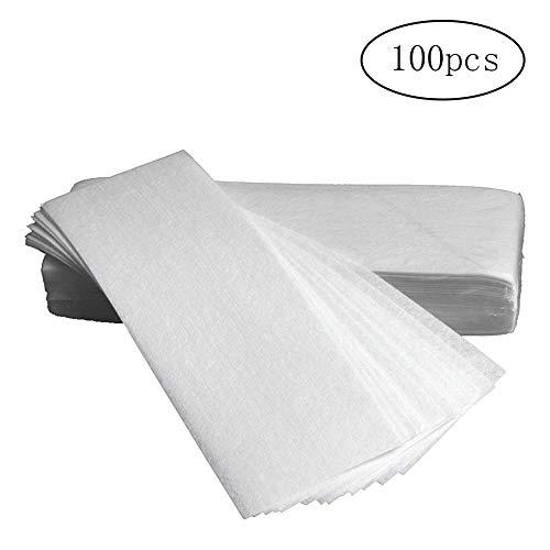 Asien-100pcs weiße Entfernung Vlies Tuch Haare entfernen Wachspapier Rollen hochwertige Haar Entfernung Epilierer Wachs Streifen Papier Seitenneigung