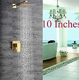 U-Enjoy Modern Platz Golden Top Qualität Messing Bad-Regen-Dusche Haus Badezimmer Küche Kopf-Hahn-Ventil-Mischer-Hahn [10]