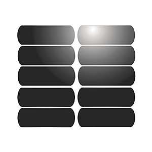 10 bandes adh sives r fl chissantes pour signalisation sur casque 6x2 cm noir r fl chissant. Black Bedroom Furniture Sets. Home Design Ideas
