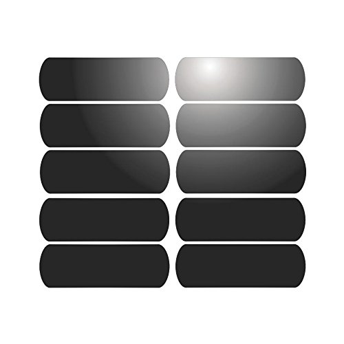 10 tiras adhesivas reflectantes para señalización en el casco (6 x 2...