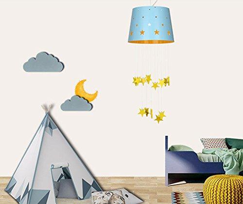 Moderne minimalistische Sterne traumhaften Mädchen oder Jungen Schlafzimmer Kronleuchter Kinderzimmer Pendelleuchte 1 Licht - 2