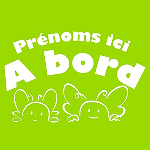 Sticker Bébés à bord personnalisable Blanc 25x17 cm