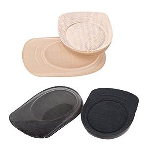 ROSENICE 2 Paare Silikon Gel Fersenkissen Fersenpolster Hilfe bei Fersensporn – Größe L