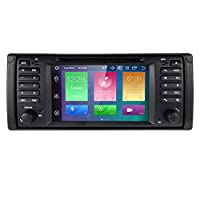 hizpo Android 10 RAM 4GB + ROM 64GB 7 Inch Single Din IPS Capacive Touch Screen Car Navigation Stereo Radio For BMW 5 E39/X5 E53/M5/7 E38 Support Mirror-link Bluetooth 4.0 Wi-Fi 4G SWC RDS DVR