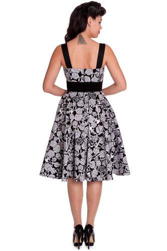Ligne bunny robe aRCADIA 50 's robe 4305 Blanc - Noir/blanc