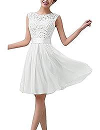 Hippolo Damen Sexy Sommer-Chiffon Spitze formell Hochzeit Ball Abend Party  Maxi Mini Kleid 833ffffb83
