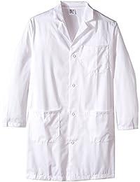 worklon 65% poliéster/35% algodón peinado fina línea de sarga hombres del personal longitud bata de laboratorio,…