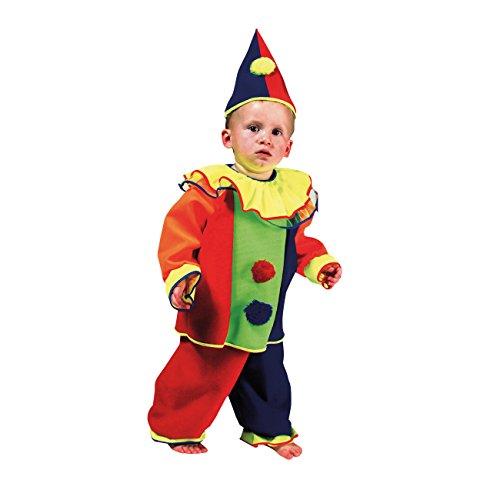 Kostümplanet® Clown-Kostüm Kinder Babys und Kleindkind Faschings-Kostüme Größe - Clown Junge Kleinkind Kostüm