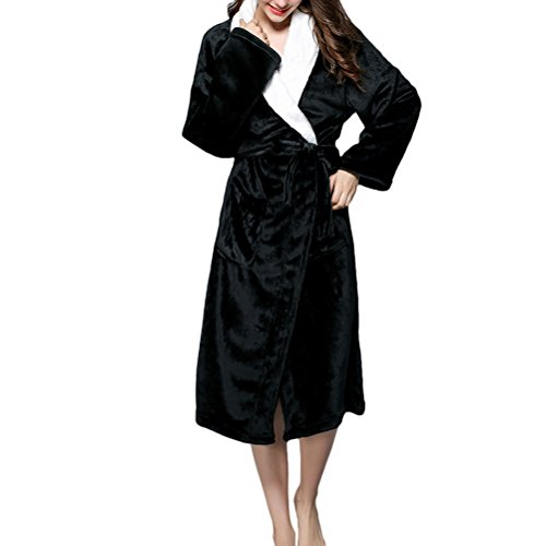 Zhuhaitf Hi-Quality Mens Womens Plus Size Fleece Morgenmantel Bath Robe Wrap Spa Supersoft (Hai Kostümen Plus Size)