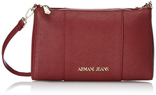 Armani Jeans 922544CC857, Borsa a tracolla Donna, Rosso (BORDEAUX 00176), 15x6x24 cm (B x H x T)