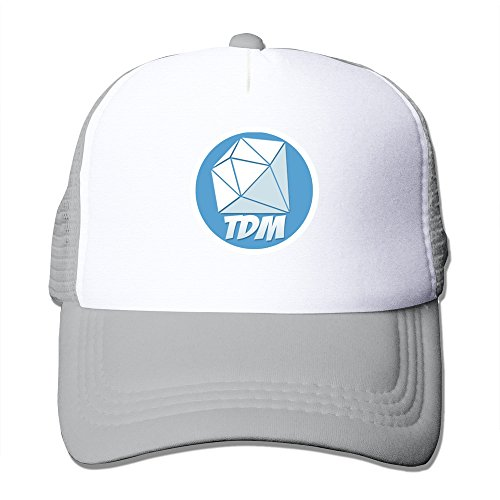 hittings-youtube-dantdm-logo-adjustable-trucker-hats-caps-men-women-ash