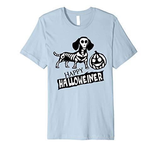 Weiner Hund Scary Halloween T-Shirt, Happy Halloweiner