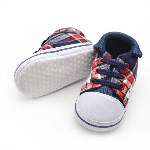pour 0-18 mois Bébé, Amlaiworld Garçon doux Sneaker seul enfant chaussures (11/0-6 mois, Bleu) Bleu