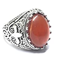 Stainless Steel Men Ring with Agate Stone Size 12