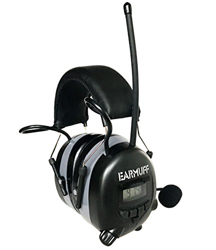 2017 DS-Alert EARMUFF dynamischer 31dB Gehörschutz mit BLUETOOTH und Surround Umgebungswahrnehmung - Extra robuster Radio Kapsel Gehörschutz Kopfhörer mit SmartPhone Anschluss inkl. AUX Kabel - 3