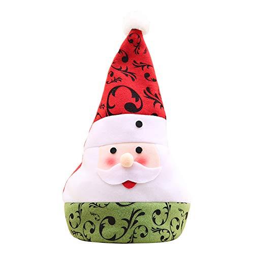 Skyeye 1*Stück Weihnachtsmütze Nikolaus-Mütze Xmas Mütze Wintermütze Blumen Rebe Muster Spitze Weihnachtsmütze Netter Weihnachtsmann