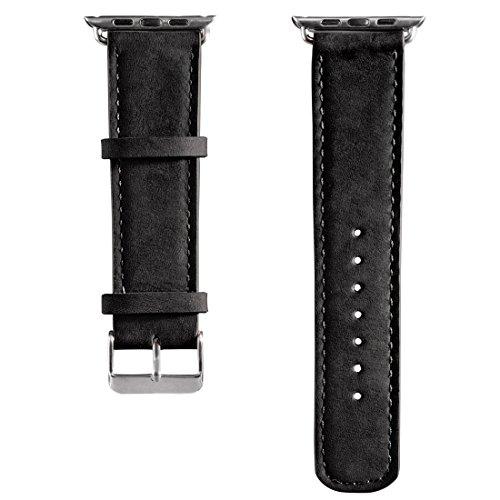 Hama Uhrenarmband Velour (geeignet für Apple Watch 38 mm, mit Adapter) schwarz (Armband Velour)