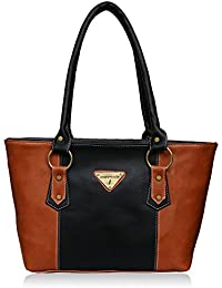 Fantosy Tan And Black Women Handbag (FNB-695)