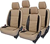 #1: Car Seat Cover for Tata Tiago Front and Back Seat Cover with Free Steering Cover by Khushal Leatherite D7