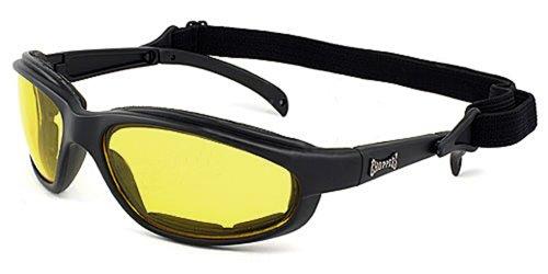 Choppers Maske und Sonnenbrillen - Multisport - Ski - Snowboard - MTB - Motorrad - Segeln - Moto - Biathlon / Mod. Stunt Gelb Clear