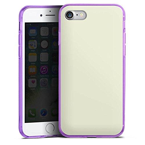 Apple iPhone 8 Silikon Hülle Case Schutzhülle Pastellgrün Grün Green Silikon Colour Case lila