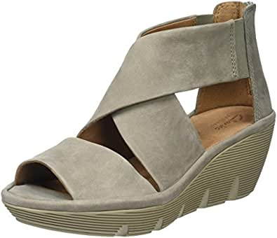 be56cb28e7c Clarks Women s Clarene Glamor Wedge Heels Sandals  Amazon.co.uk ...