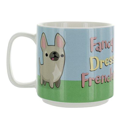 My Kawaii Fancy Kleid Frenchie Tasse, Keramik, Mehrfarbig, 8x 12x ()