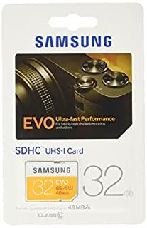 Samsung Speicherkarte SDHC 32GB GB EVO UHS-I Grade 1 Class 10 für Foto und Video Kameras (bis zu 48MB/s Transfergeschwindigkeit) (B00J4G8WSI) | Amazon price tracker / tracking, Amazon price history charts, Amazon price watches, Amazon price drop alerts