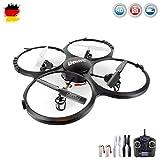 s-idee UDI U818A HD Upgrade- RC UFO mit Akku und Camera - 3D Quadrocopter - Drohne 2,4Ghz - mit 4GB MicroSD Karte (Schwarz mit 2 Akkus)