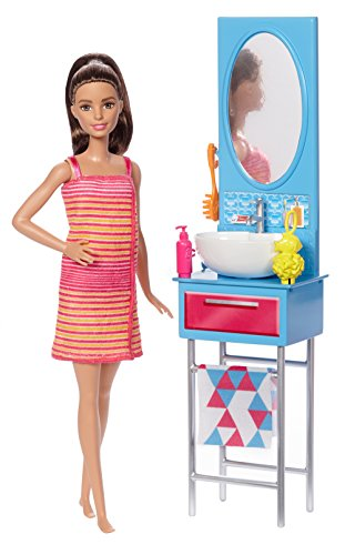 Barbie Bathroom Doll, Multi Color