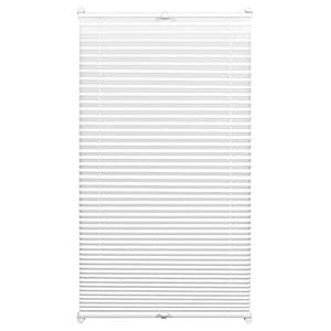 Gardinia EASYFIX Pleated Blind with 2 Operating Rails White 95 x 130, Fabric 100% Polyester 95 x 130 cm