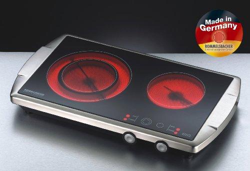 Rommelsbacher CT 3400/E Switch – Ceran® Doppelkochtafel – 3400 Watt – Edelstahl - 2