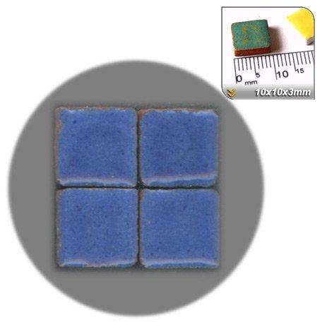 Faience Azul - Mini Mosaïque (10x10x3mm), 100 tesselles, Azul Real,
