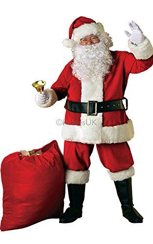 Santa Weihnachten Anzug Deluxe Samt Kostüm für Erwachsene -