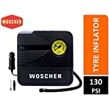 Woscher 801 Rapid Performance Portable Tyre Inflator (12V) with LED Light