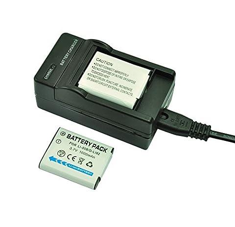Mondpalast ® Remplacement 2 x Batterie Li-ion type Li-50B li50b