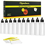 50 x 100 ml Bouteilles Oputec Doseur avec tröpfler et 50 étiquettes de dosage et stockage de liquides - Liquid bouteille E-liquide - Fabriqué en Allemagne