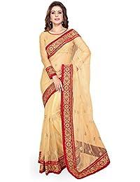 Sourbh Sarees Women's Net Saree (with color option) saree with blouse