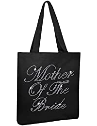 Black Mother Of The Bride Luxury Crystal Bride Tote Bag Wedding Party Gift Bag Cotton By Crystalsrus