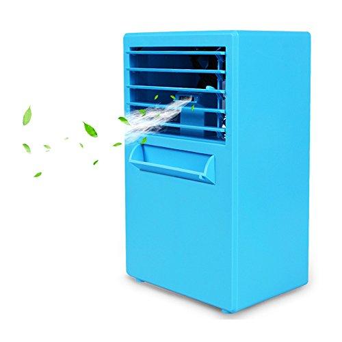 //ChenCheng Spray, feuchtigkeitsspendende Haut, Energieeinsparung, Wasser und Stromausfallschutz, kreative Multifunktions-Mini-Klimaanlage Daily Necessities (Color : Blue) -