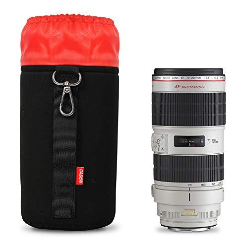 LHJ SLR-Kamera-objektivtasche Objektivschlauch Wasserdichte Und Stoßfeste Aufbewahrungstasche Für Objektiv Super Dicke Kamera-objektivtasche,Black,23cm Slr Gadget Bag